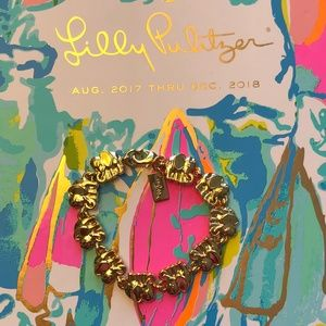Lilly Pulitzer Gold Metallic Elephant Bracelet